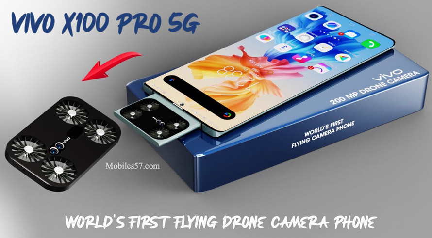 Vivo X100 Pro 5G - World's First Flying Drone Camera Phone